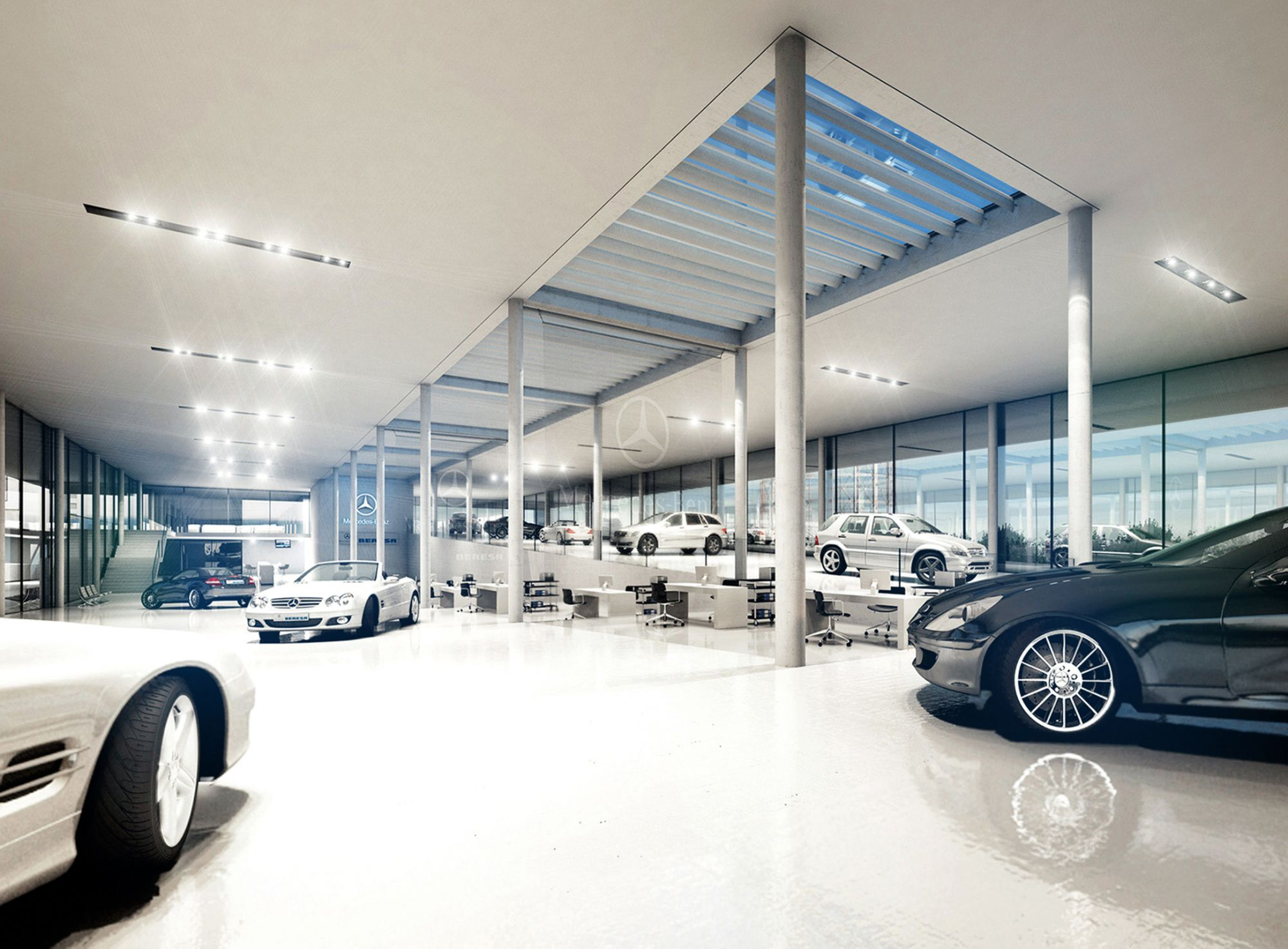 Car Showrooms | Green Your Space Group